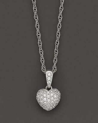 Bloomingdale's Pavé Diamond Heart Pendant in 14K White Gold, 0.25 ct. t.w.