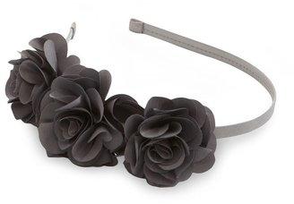 Natasha Accessories Triple-Rosette Skinny Headband