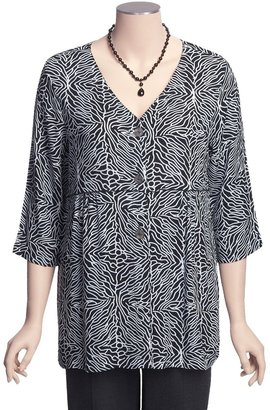 Caprice Fresco by Nomadic Traders Allyson Shirt Jacket - Crinkle Rayon, 3/4 Sleeve (For Women)