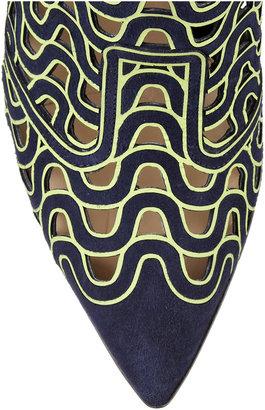 Nicholas Kirkwood Laser-cut suede ankle boots
