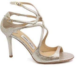 """Jimmy Choo Ivette"""" Champagne High Heel Sandal"""