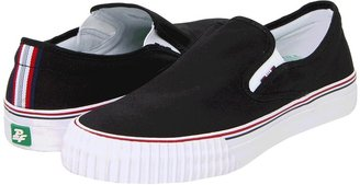PF Flyers Center Slip-On (Black Canvas) - Footwear