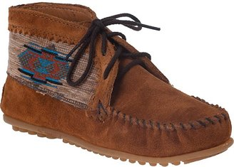 Minnetonka MOCCASIN El Paso Ankle Bootie Brown Suede