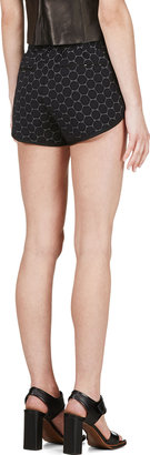 Marc by Marc Jacobs Black Jacquard Leyna Dotty Ponte Shorts