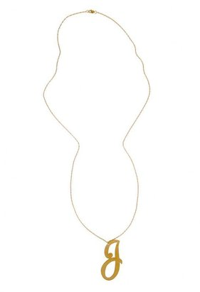 "Jennifer Zeuner Jewelry 30"" Extra Large Cursive Initial Necklace -"