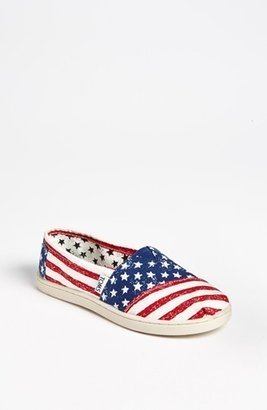 Toms 'Classic Youth - Stars & Stripes' Slip-On (Toddler, Little Kid & Big Kid)