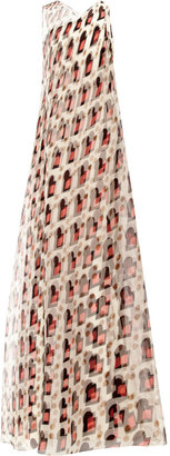 Carolina Herrera Sleeveless Overlay Gown