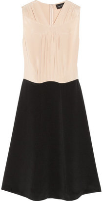 Derek Lam Two-tone pleated silk dress
