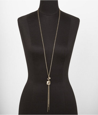 Express Faceted Bead And Knotted Chain Necklace