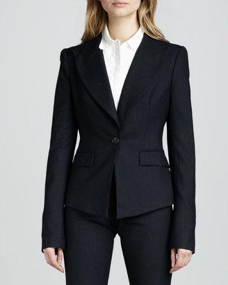 Rachel Zoe Christina Fitted Pinstripe Jacket