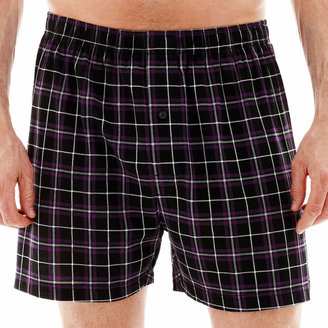 STAFFORD Stafford Plaid Knit Cotton Boxers $14 thestylecure.com