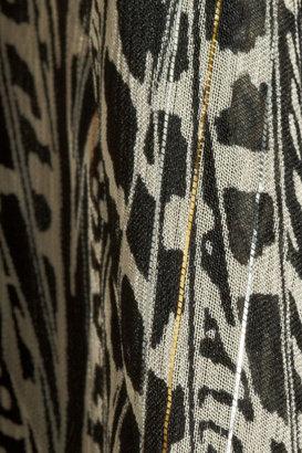 Issa Metallic printed silk-blend chiffon gown