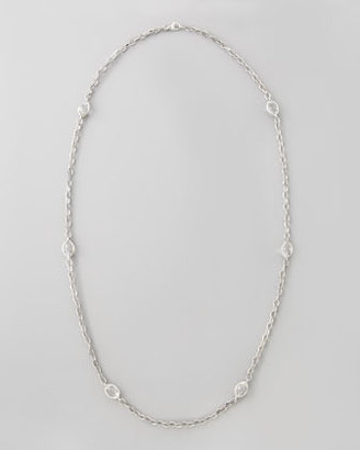 "Lagos Venus Rock Crystal Station Necklace, 35""L"