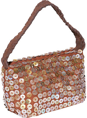 Global Elements Mother of Pearl Buttons Handbag