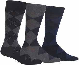 Polo Ralph Lauren Men Socks, Extended Size Argyle Dress Men Socks 3-Pack