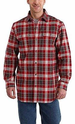 Carhartt Men's Big & Tall Hubbard Plaid Long Sleeve Shirt Heavyweight Flannel Original Fit