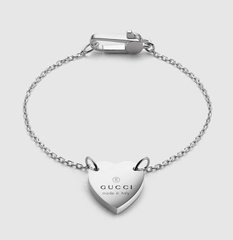 Gucci Bracelet With Trademark Engraved Heart