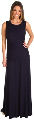 Vince Camuto Crisscross Bodice Gown VC2D1152 (Blue Night) - Apparel