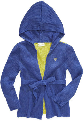 GUESS Sweater, Little Girls Hooded Cardigan