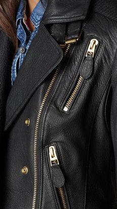 Burberry Lambskin Biker Jacket