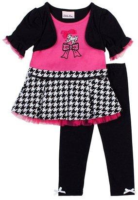 Little Lass mock-layer dress & leggings set - girls 4-6x