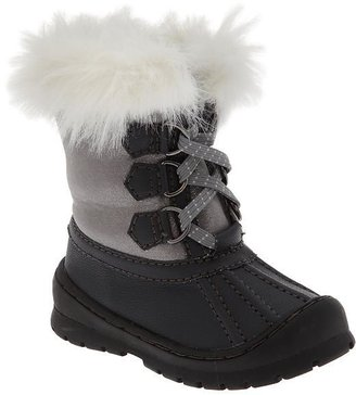 Old Navy Faux-Fur Trim Snow Boots for Baby