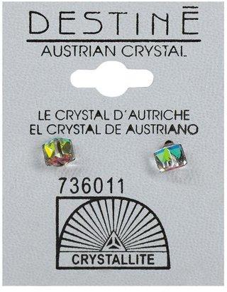 Crystallite Desitne Austrian Crystal Cube-Shaped Earrings