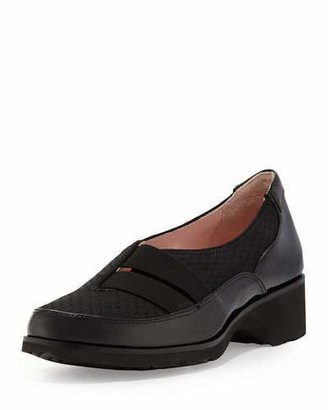 Taryn Rose Tuuli Double-Strap Slip-On Sneaker, Black $219 thestylecure.com