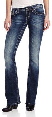 Miss Me Angel Wing Flap Pocket Embellished Boot Cut Jean