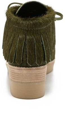 Derek Lam 10 Crosby Eden Haircalf Wedge Booties