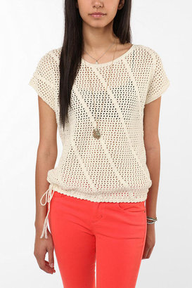 Urban Outfitters 6x6 by No.6 Crochet Drawstring Sweater