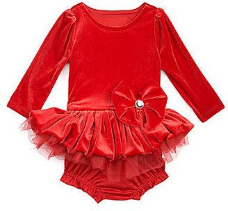 Nannette Newborn Drop-Waist-Skirted Dress