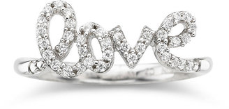 FINE JEWELRY 1/5 CT. T.W. Diamond Love Ring Sterling Silver $270.82 thestylecure.com