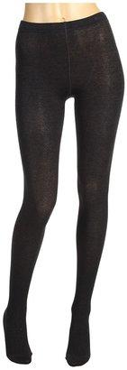 Cole Haan Chevron Cotton Tights (Dark Grey Heather) - Footwear