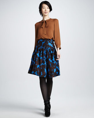 Marc by Marc Jacobs Onyx Floral-Print Skirt