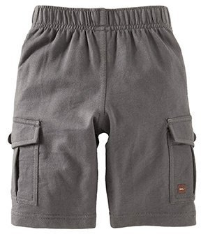 Tea Collection French Terry Cargo Shorts - Thunder- 6-12 Months