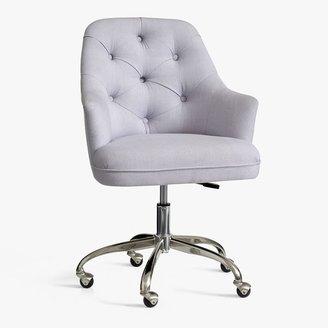 Pottery Barn Teen Twill Tufted Swivel Desk Chair