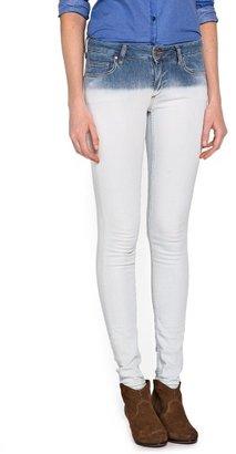 MANGO Super slim-fit tie-dye jeans