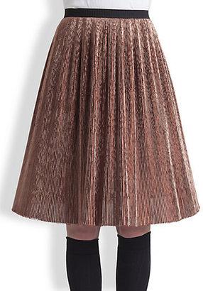 Marni Metallic Plissé Skirt