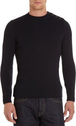 Barneys New York Saint James x Button Shoulder Sweater