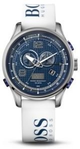 HUGO BOSS '1512801' - Chronograph White Silicon Logo Strap Watch