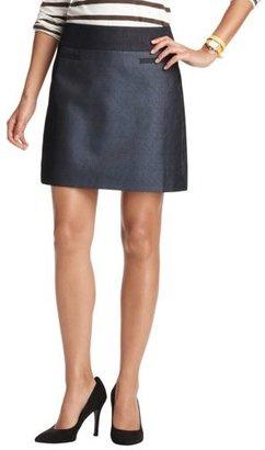 LOFT Petite Metallic Jacquard Shift Skirt