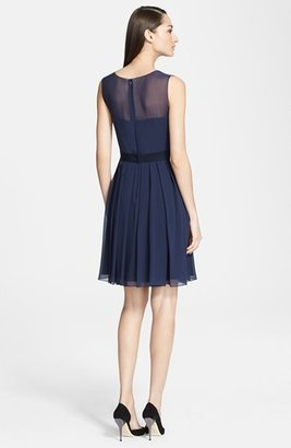 Max Mara 'Epica' Silk Chiffon Fit & Flare Dress