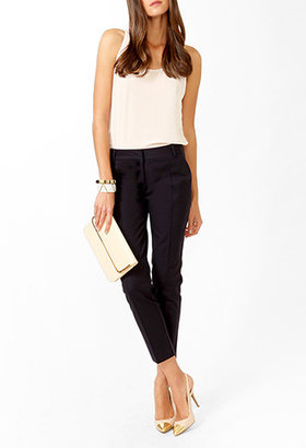 Forever 21 Essential Pintucked Ankle Trousers