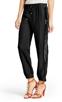 Diane von Furstenberg Kamaris Embellished Drawstring Pant In Black