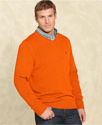 Tommy Hilfiger Big and Tall Sweater, Gallaway V Neck Sweater