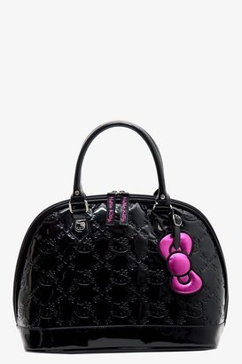 Hello Kitty Loungefly Black Patent Embossed Bag