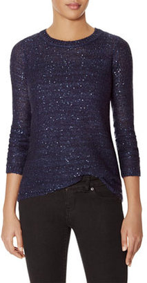 The Limited Crew Neck Sequin Sweater