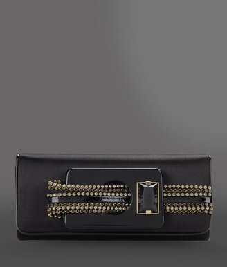 Giorgio Armani Evening clutch with rhinestones and onyx