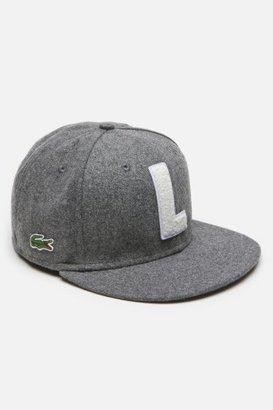 "Lacoste L!VE Mens Wool Flannel Flat Brim Cap With ""L"" Logo"